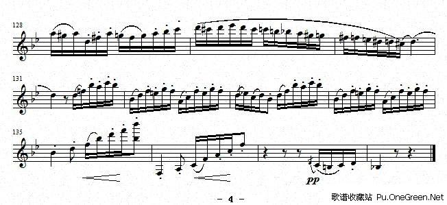 练习曲 之26 单簧管谱
