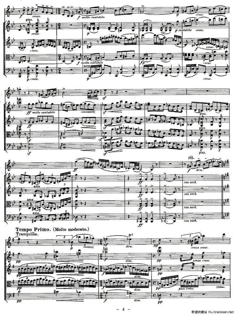 no1.(双簧管 弦乐五重奏第一乐章,总谱)