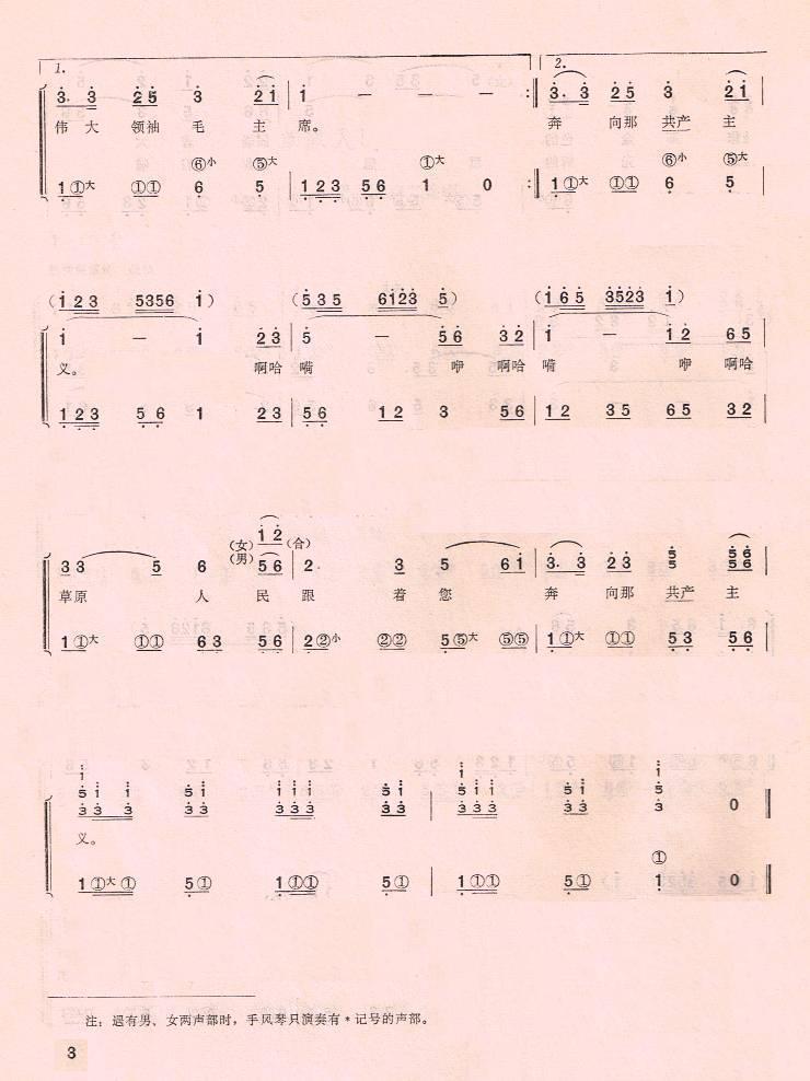 上一首歌谱:咱们的领袖毛泽东(手风琴简谱系列58)-草原人民歌唱