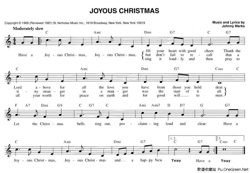 圣诞拍手歌简谱