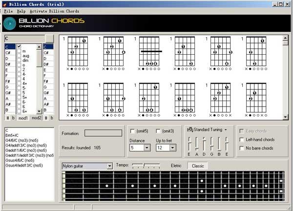 billion chords 世界上最强大的吉他和弦字典