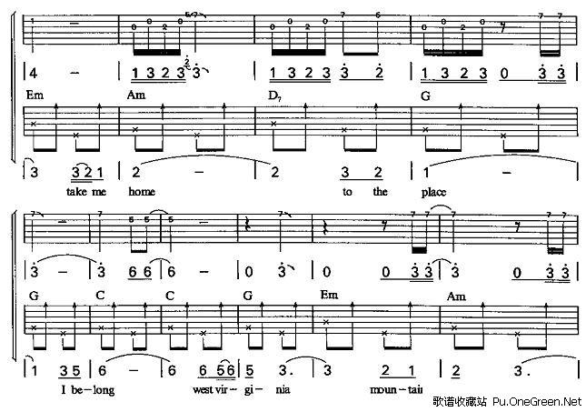 双吉他 吉他 乐谱 歌谱