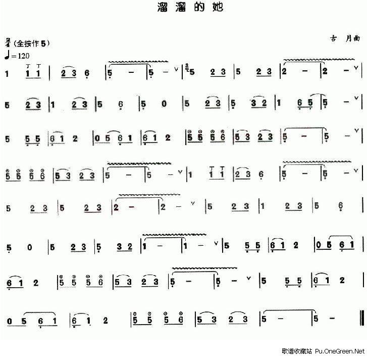 求二胡曲《火-彩衣姑娘》(火之姑娘)的曲谱~不好意思,去几个常用的搜