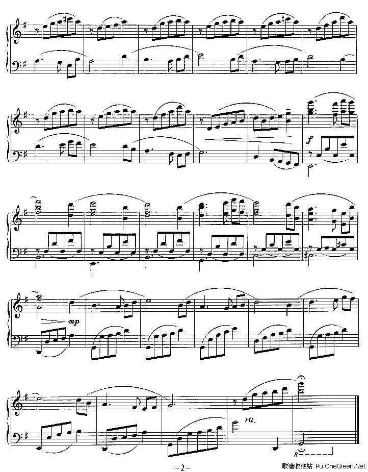五指简谱练习曲谱