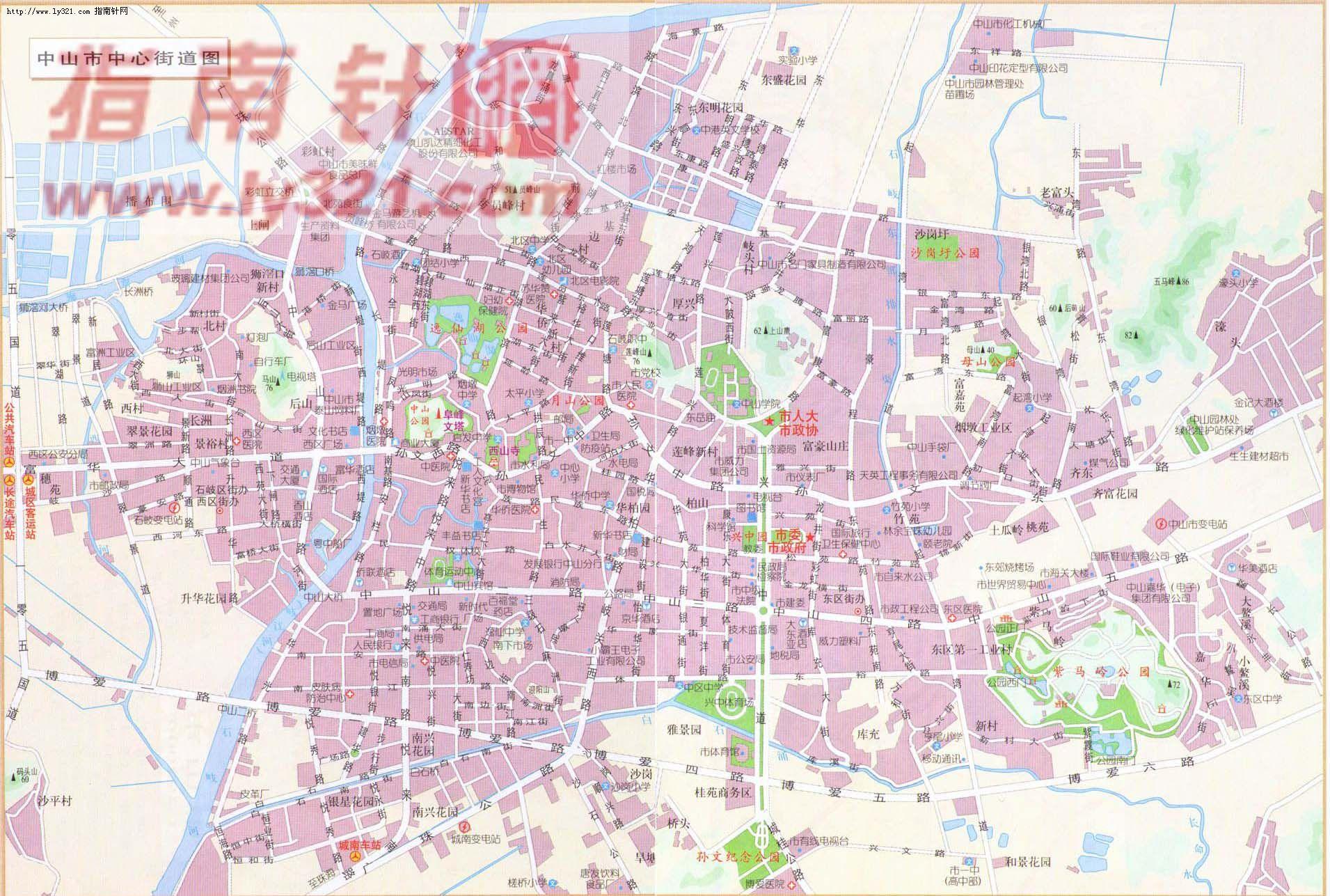 广东中山地图图片