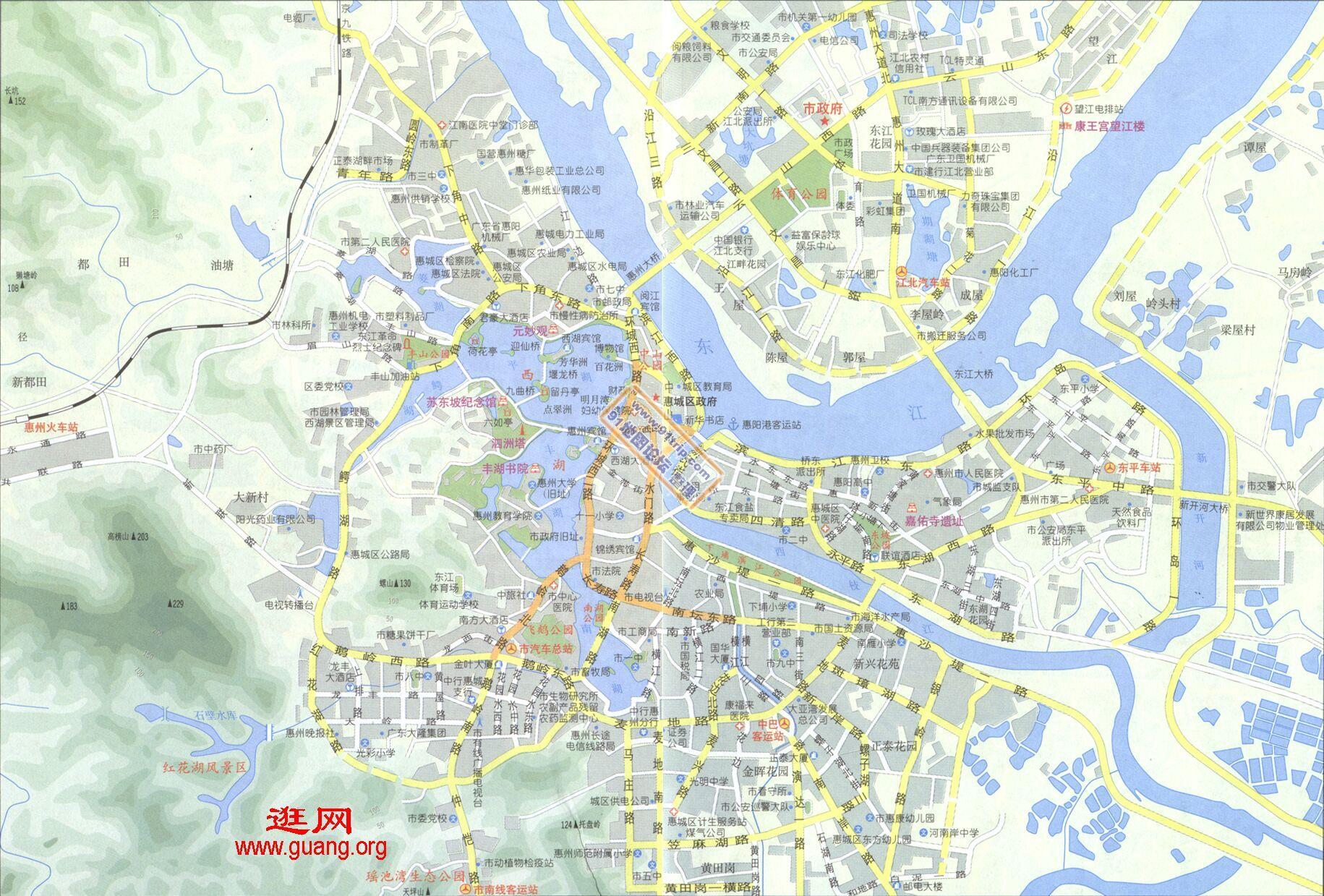 地图 惠州/广东惠州地图...