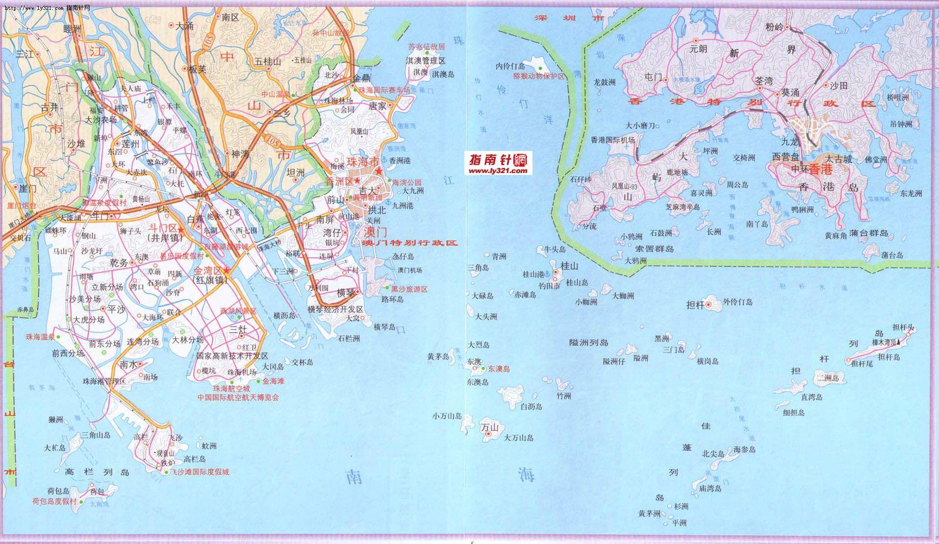 珠海政区地图_珠海市地图查询