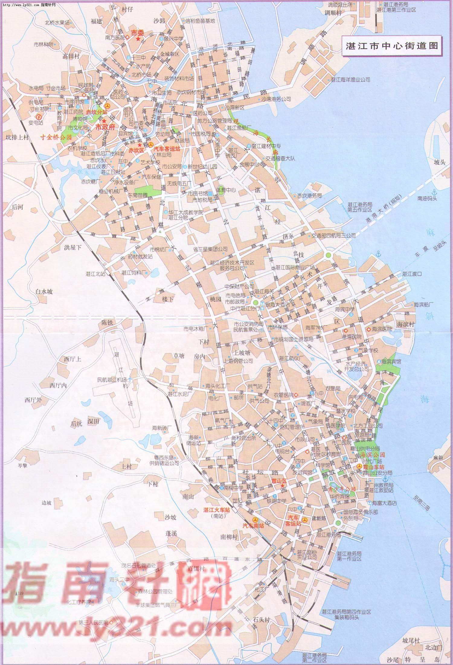 广东省湛江市中心街道地图