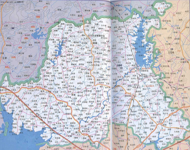 廉江市(廉城镇)地图