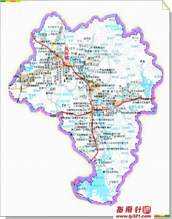 东莞凤岗镇地图