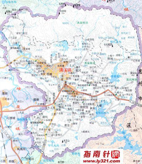 东莞清溪镇地图