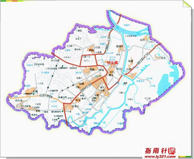 东莞桥头镇地图