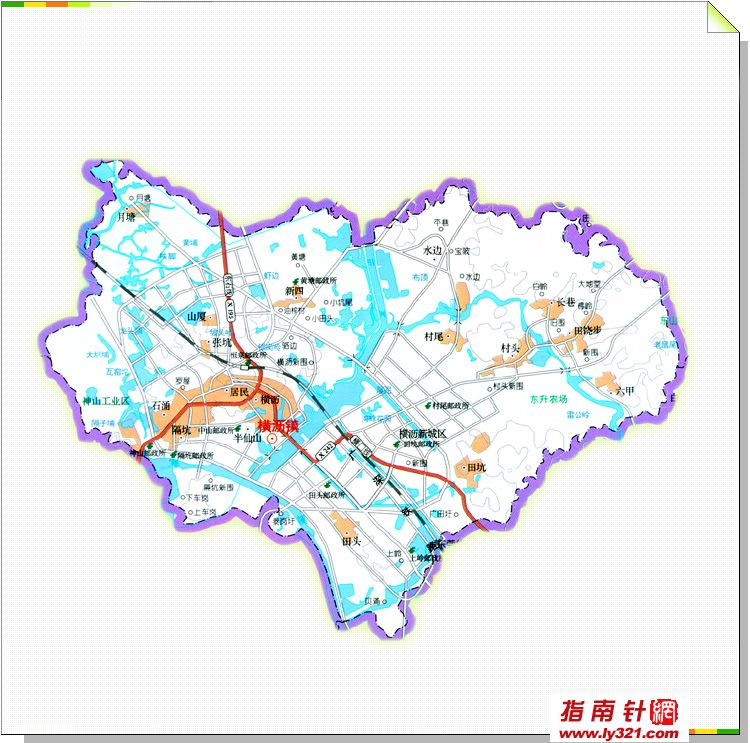 东莞横沥镇地图