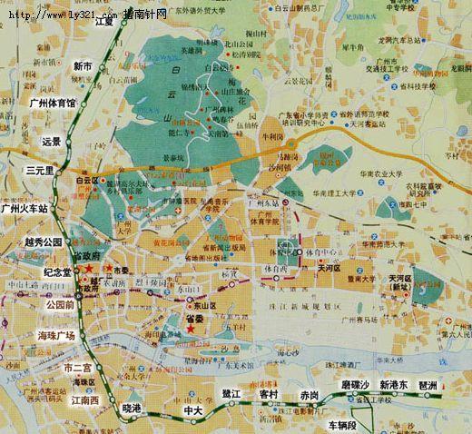 广州地铁 地图 二号线图片