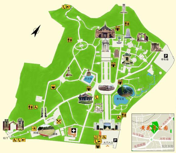 黄花岗七十二烈士陵园_广州市地图查询
