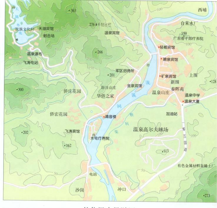 从化温泉地图_广州市地图查询