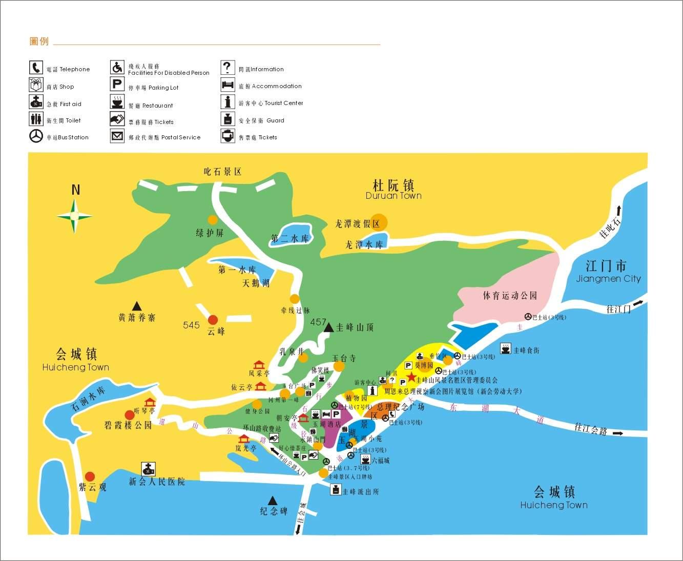 广东旅游地图景点_广东旅游景区地图
