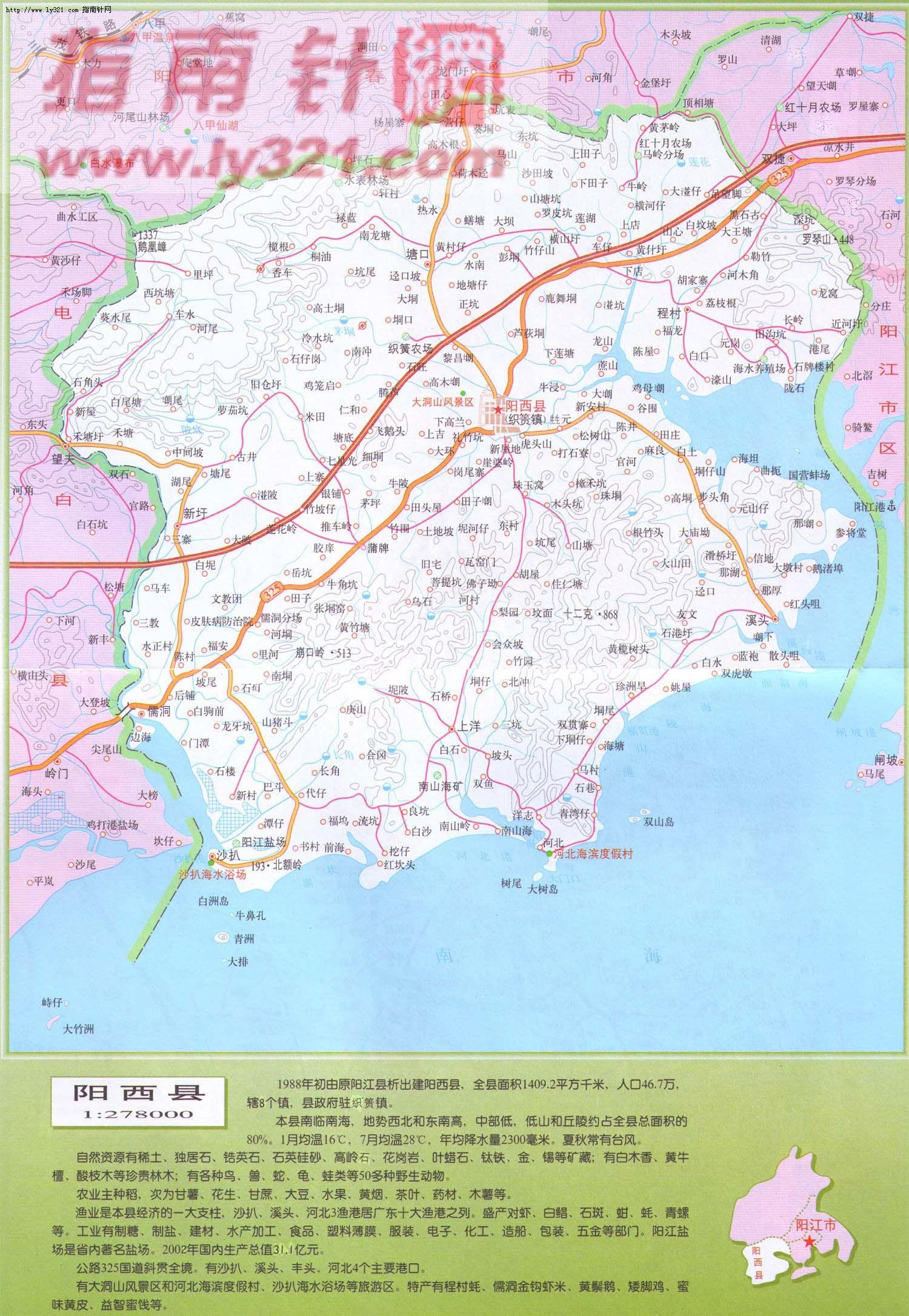 广东省阳江市阳西县地图