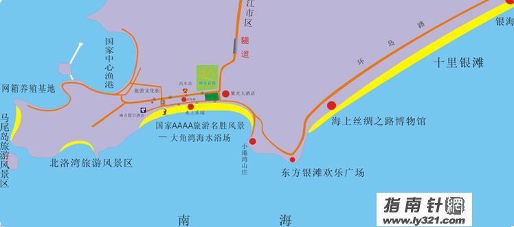 广东阳江闸坡地图