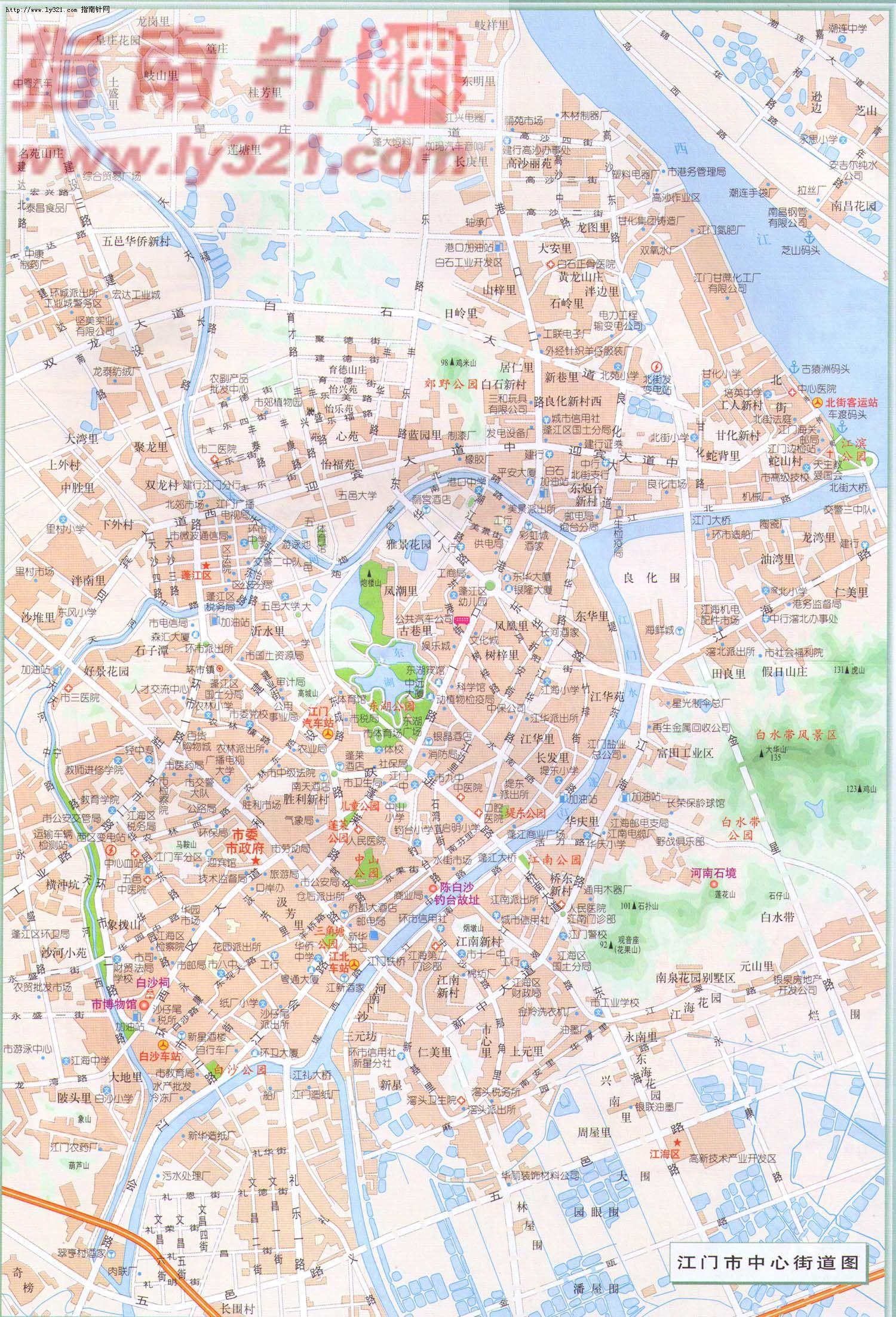 省江门市中心街道地图图片