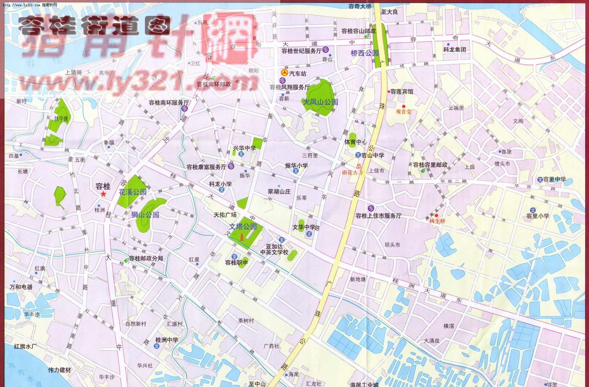 佛山市顺德区容桂镇街道地图