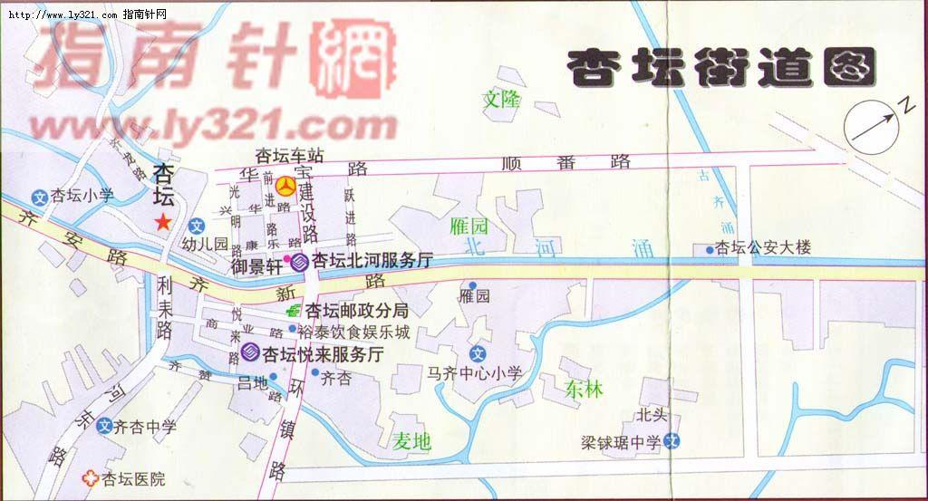 佛山市顺德区杏坛镇街道地图