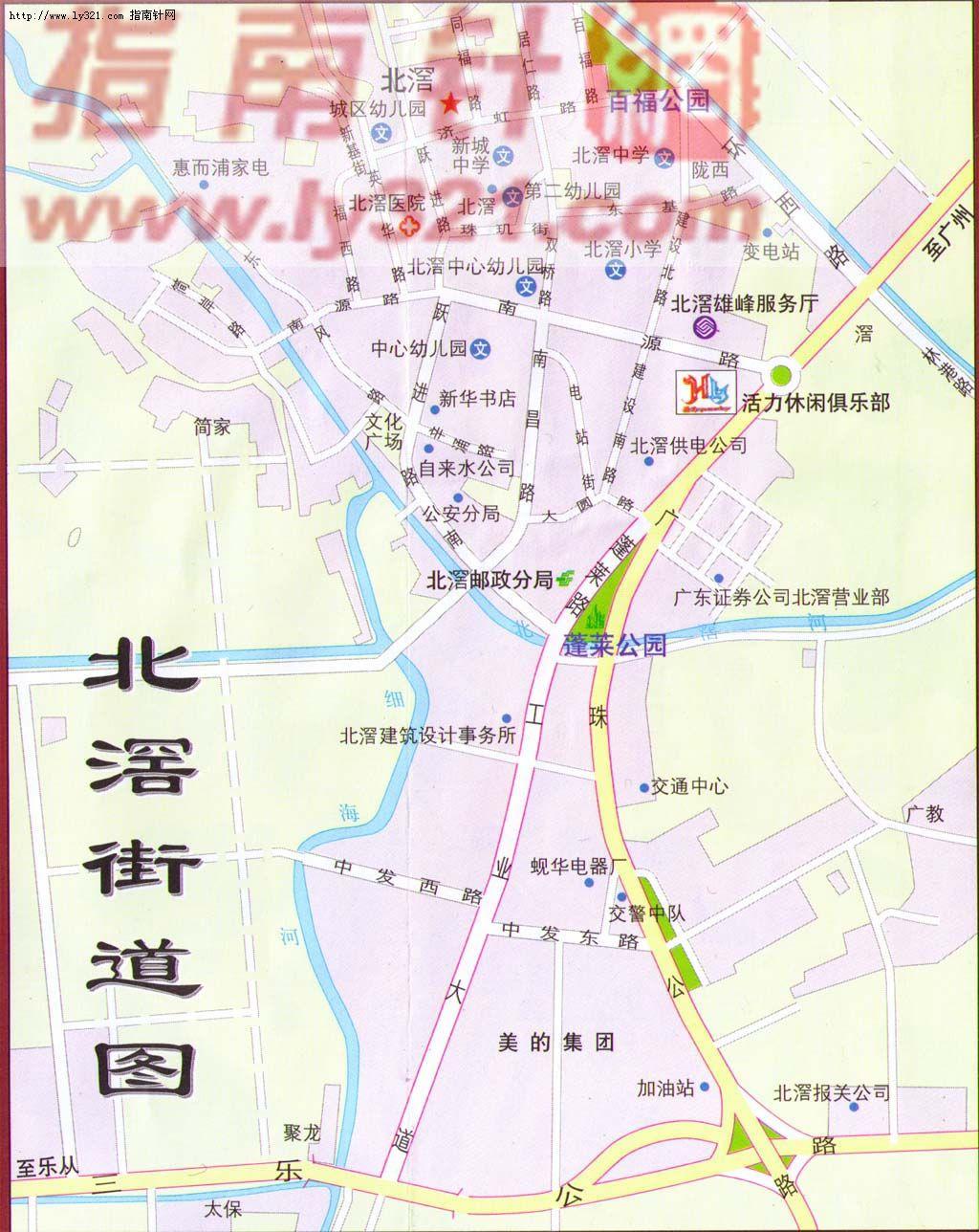 佛山市顺德区北滘镇街道地图