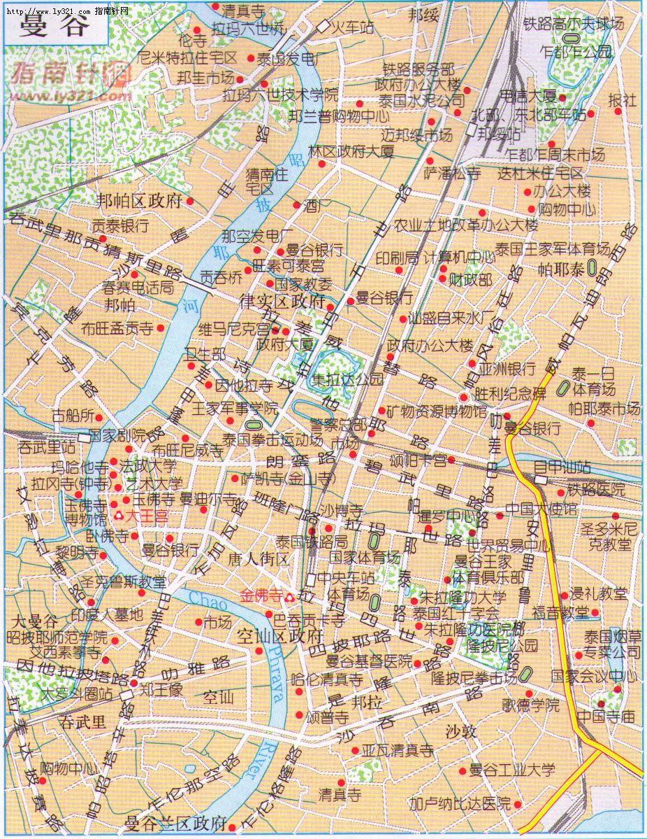 泰国曼谷地图_泰国地图查询