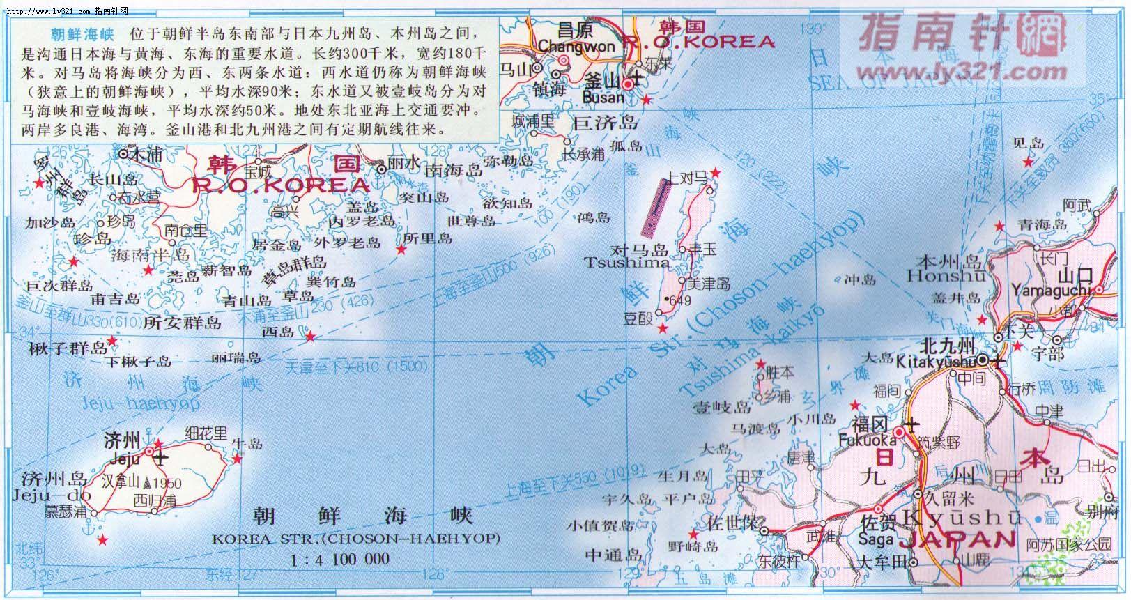 朝鲜海峡地图