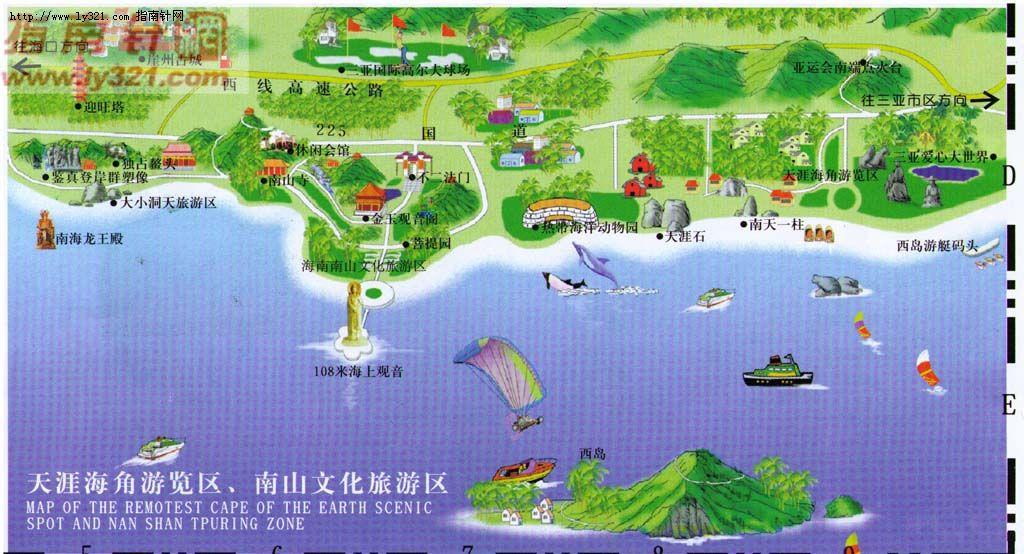 >> 三亚天涯海角南山文化旅游区地图