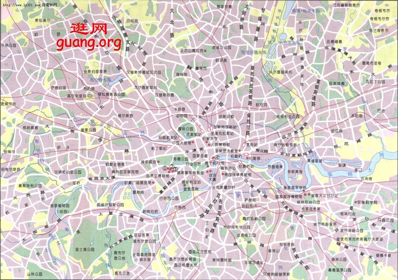 伦敦市区地图_欧洲旅游景点地图查询
