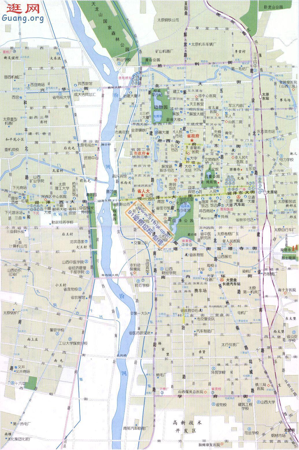 山西太原地图_太原市地图查询