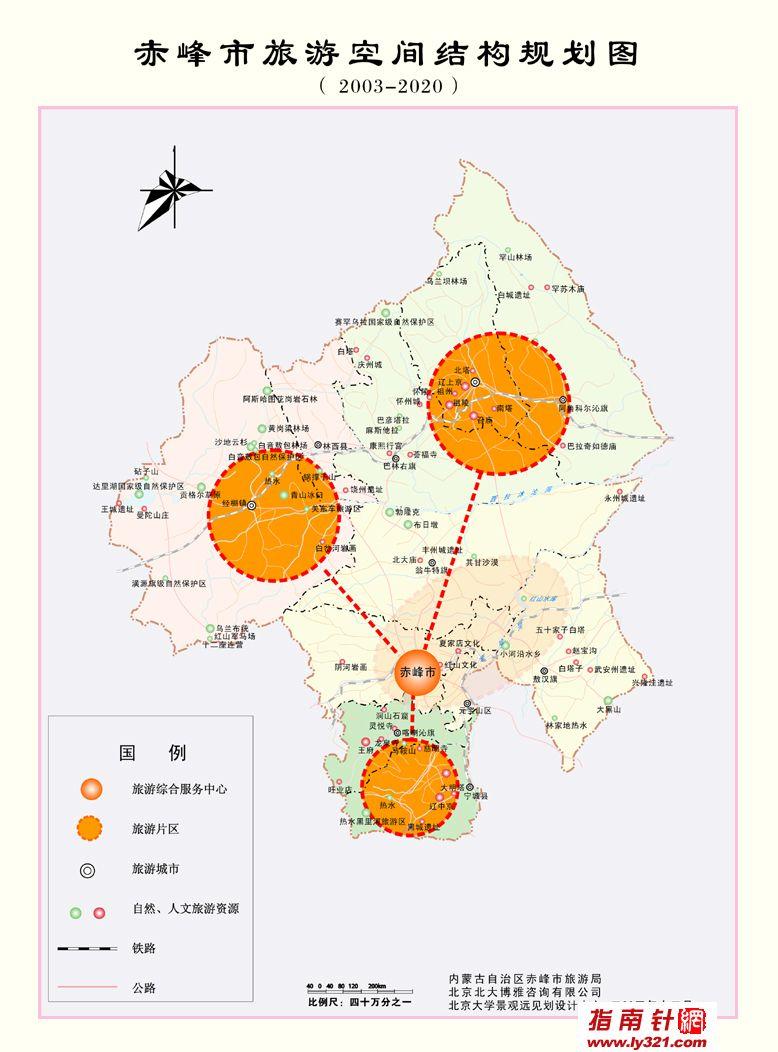 内蒙古赤峰市旅游空间结构规划图