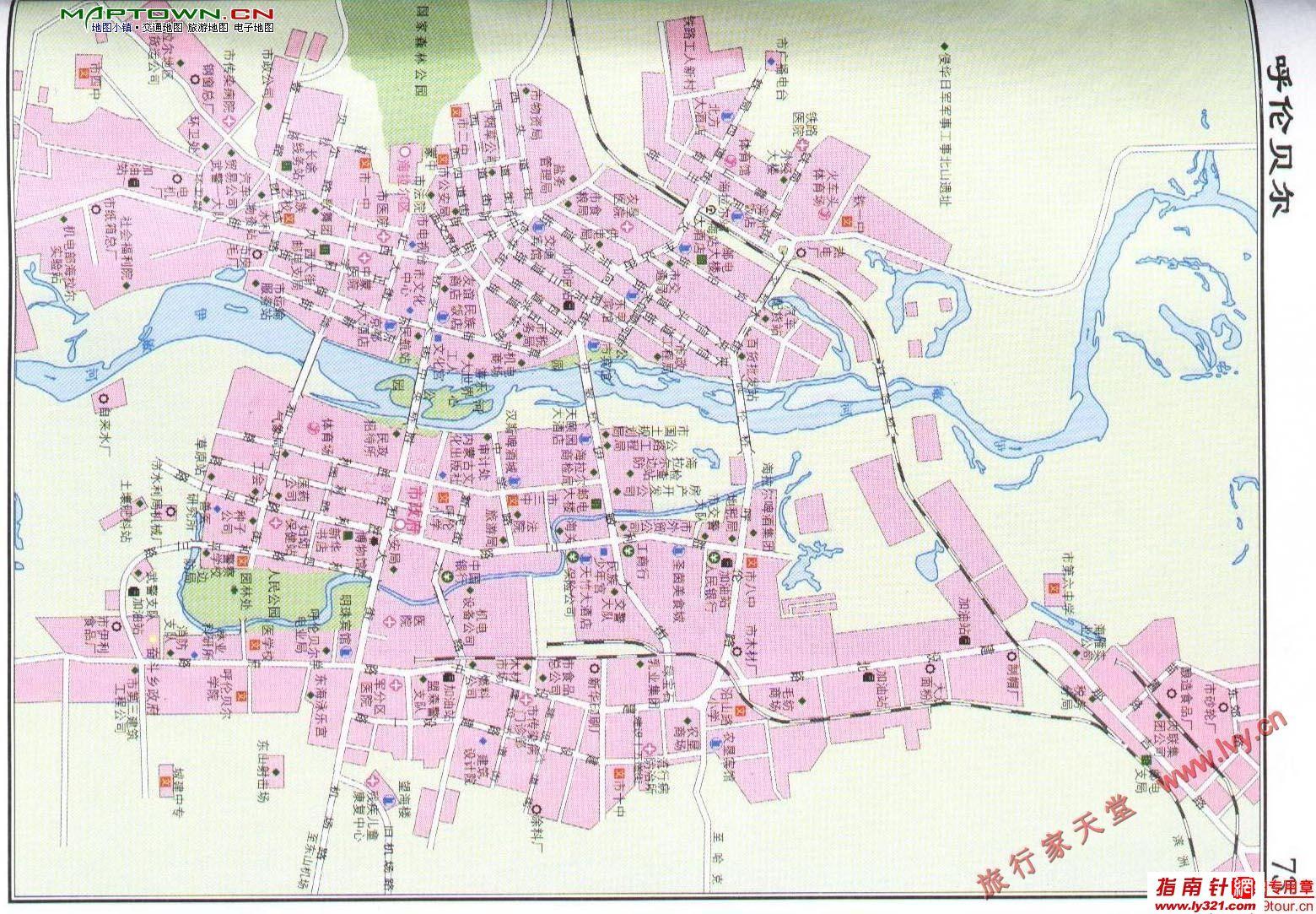 内蒙古呼伦贝尔市市区地图