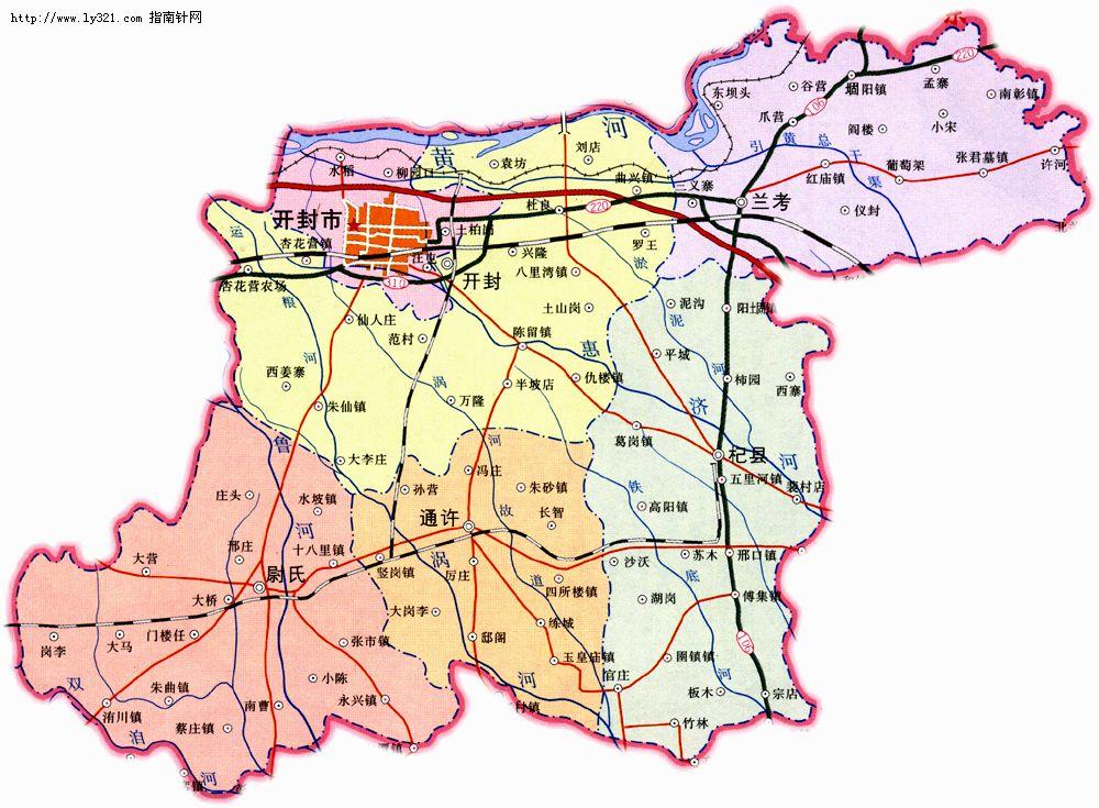 开封政区地图