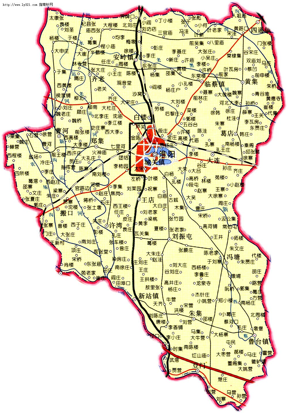 河南周口淮阳县地图