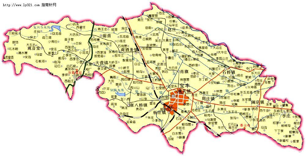河南平顶山宝丰县地图