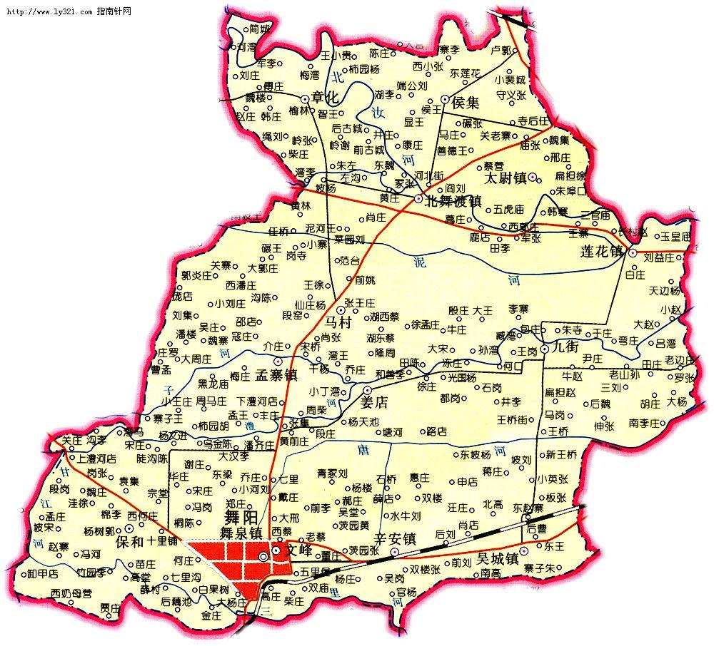 河南漯河舞阳县地图