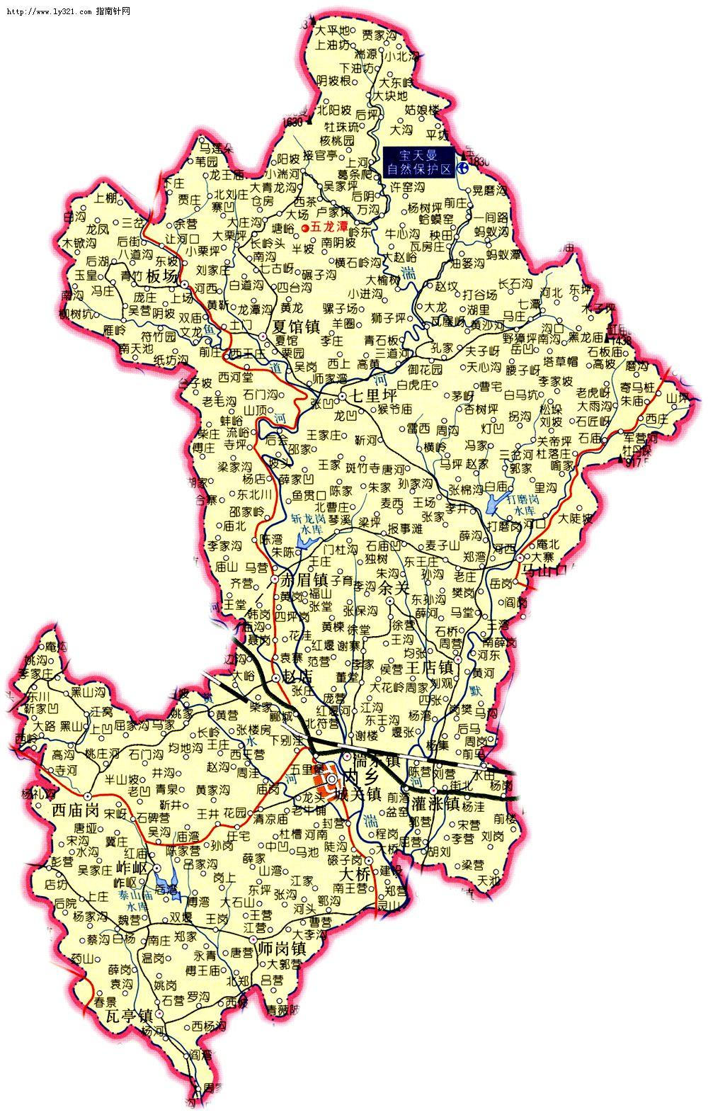 河南南阳内乡县地图