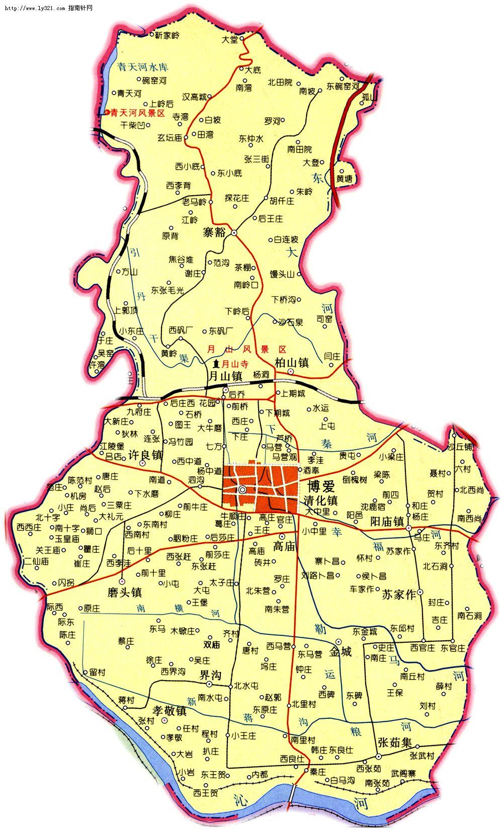 河南焦作博爱县地图