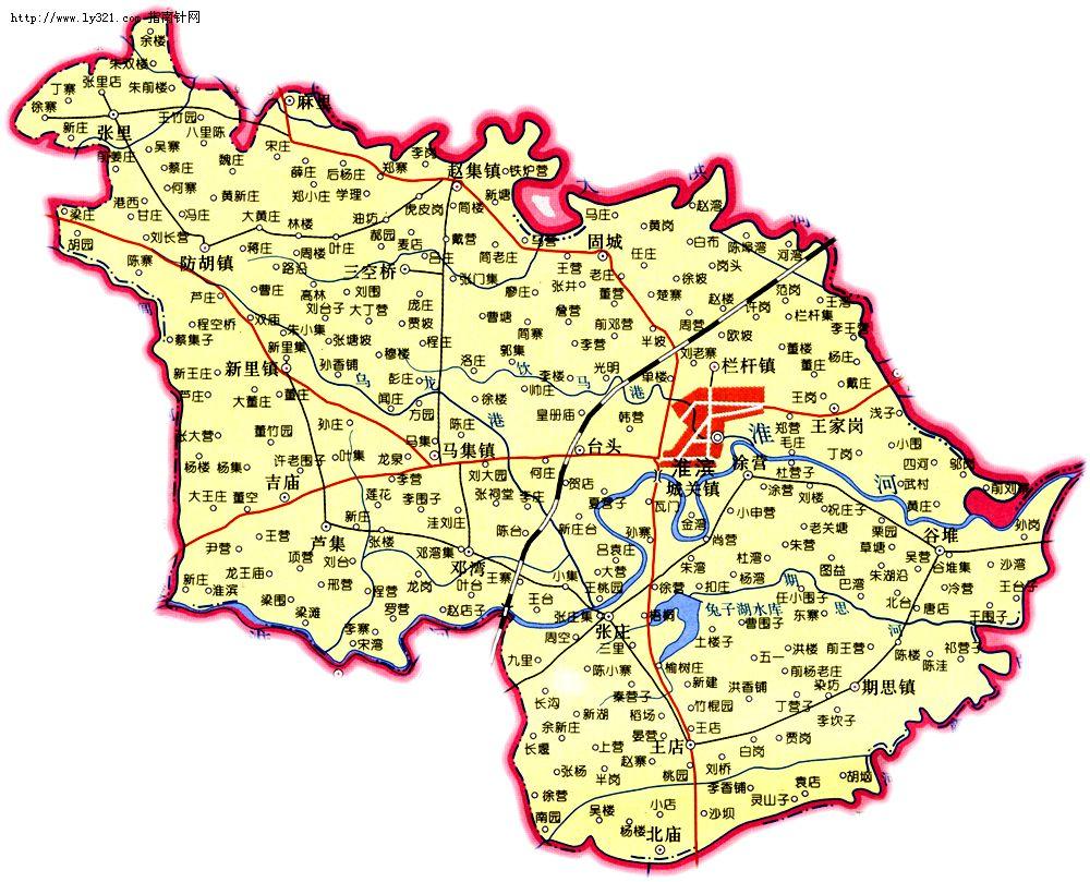 河南信阳淮滨县地图_信阳市旅游景点地图查询(1000x809,190k)-河