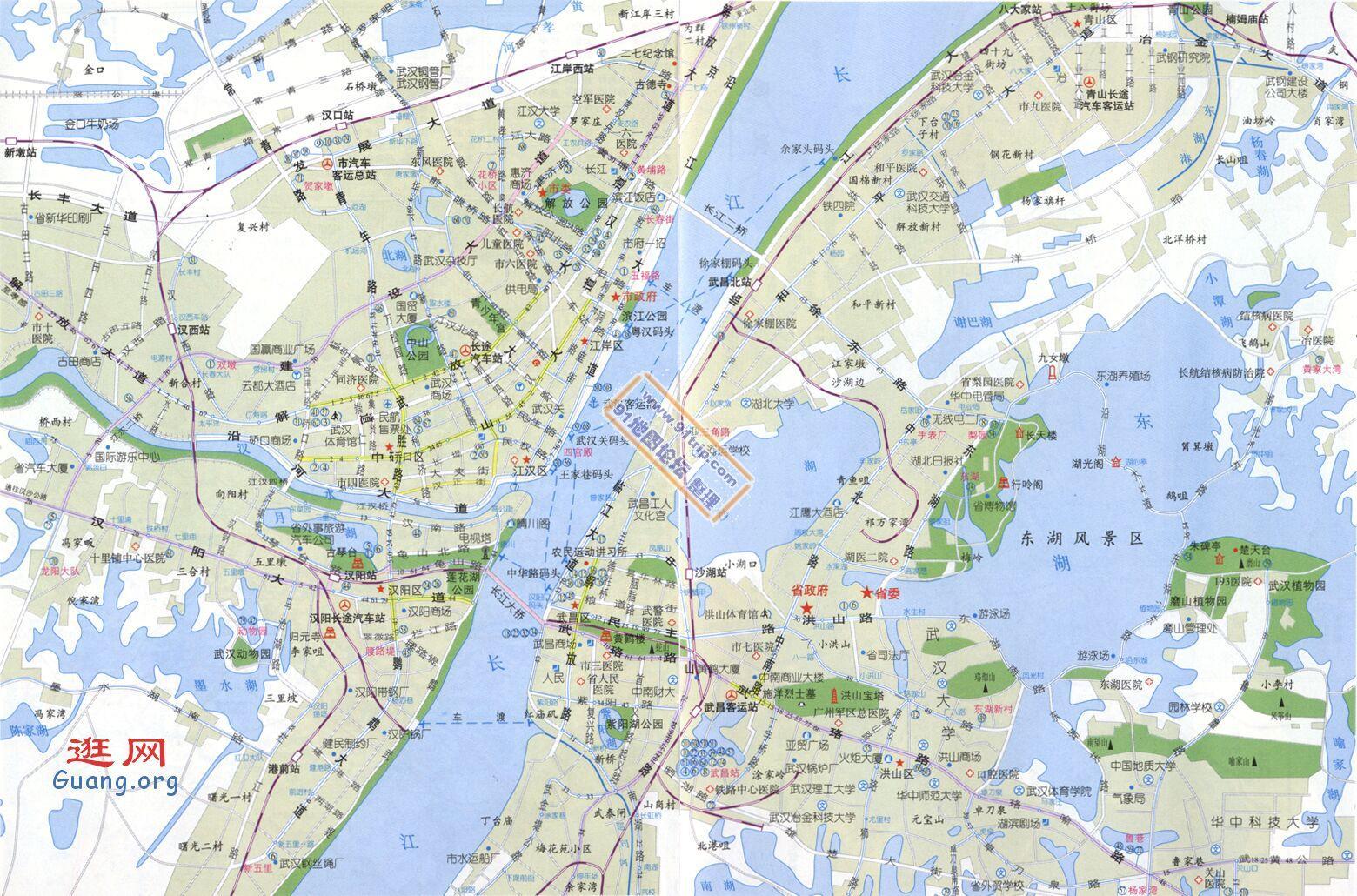 武汉地图全图 武汉地图全图高清版 自驾游电子地图