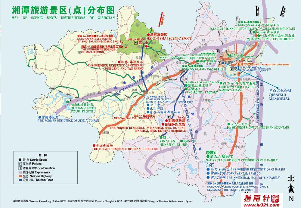 湖南韶山旅游景点地图_湘潭地图库