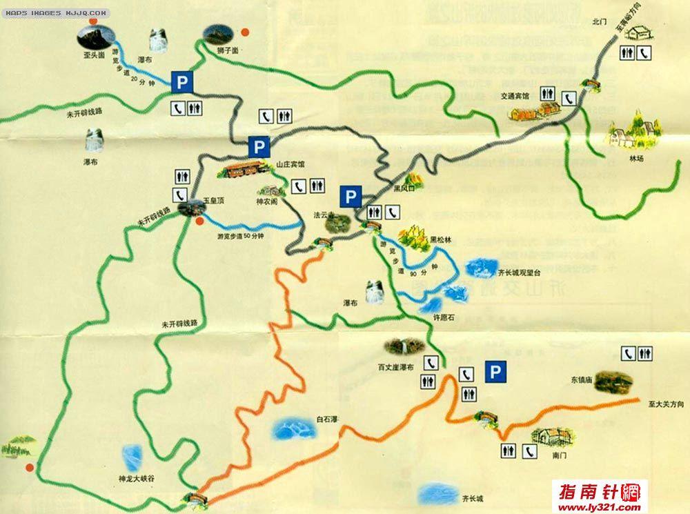 山东沂山旅游地图_山东其他旅游景点地图查询