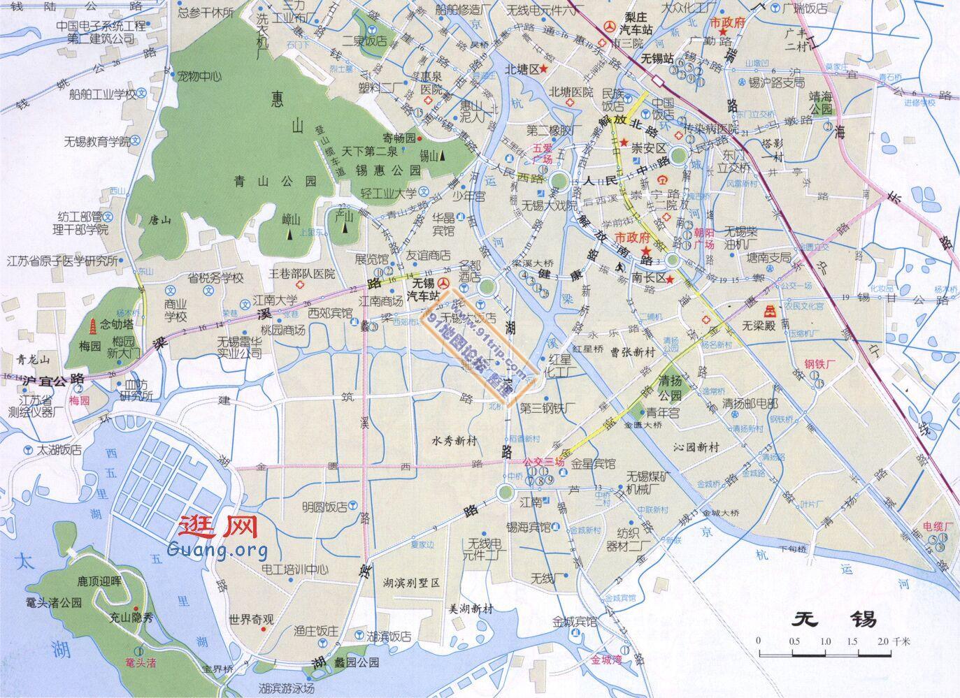 江苏无锡地图