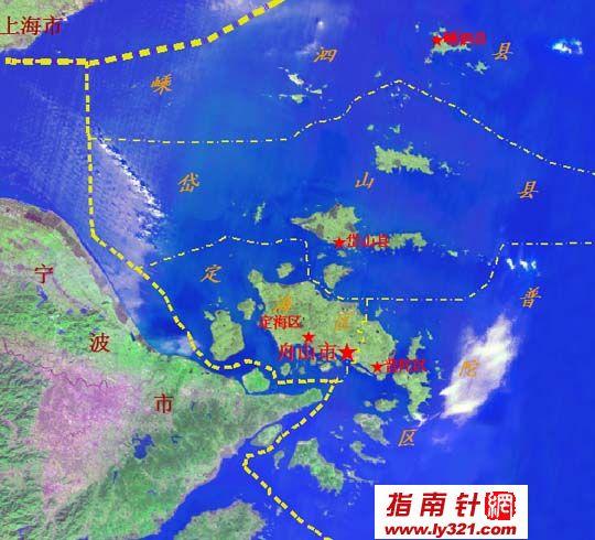浙江舟山位置地图