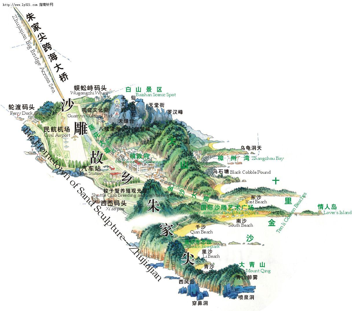 朱家尖景区_舟山市地图查询