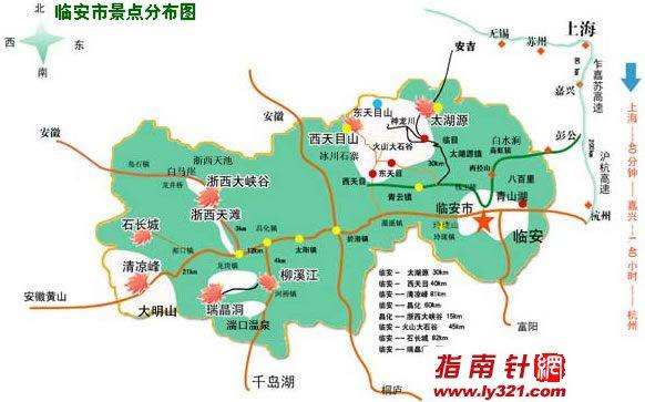浙江杭州旅游景点地图_杭州旅游景点大全地图