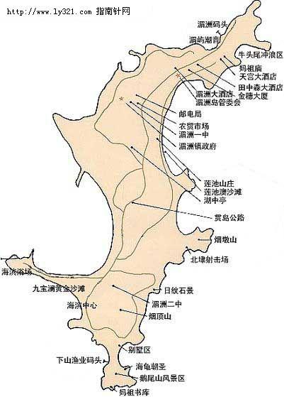 福建湄洲岛导游地图_莆田市地图查询