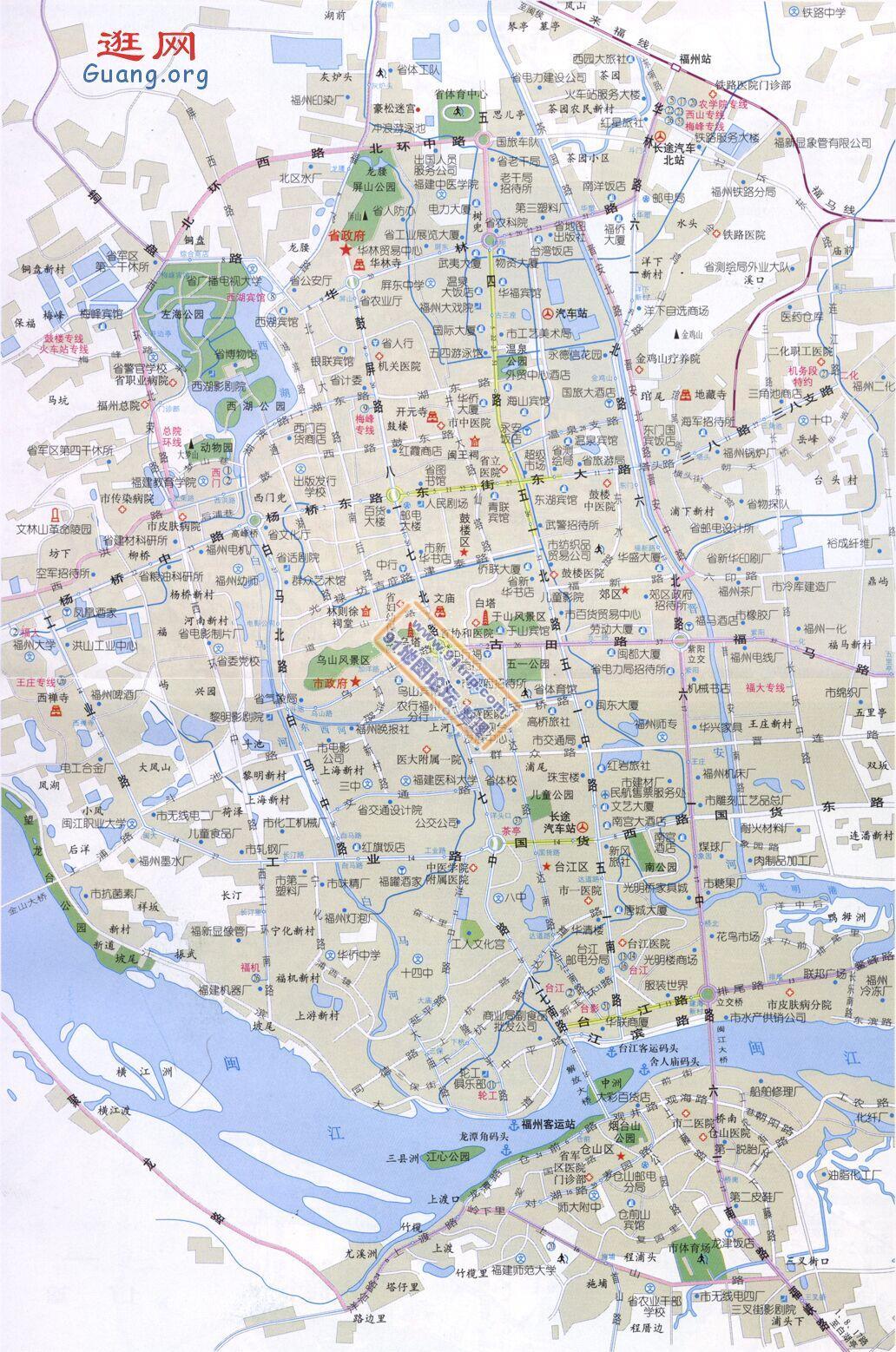 福建省福州地图_福州市地图查询